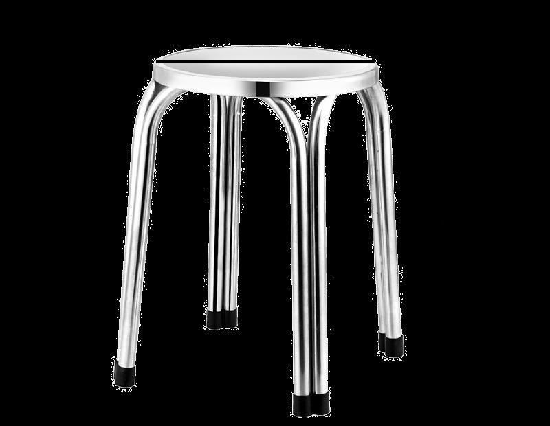 ขนาดของเก้าอี้กลมสแตนเลส